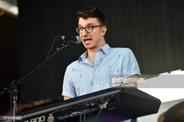 Singer Ryan Met of the band AJR performs onstage during the ALT 987 Summer Camp Concert at Queen Mary Events Park on August 12 2018 in Long Beach...