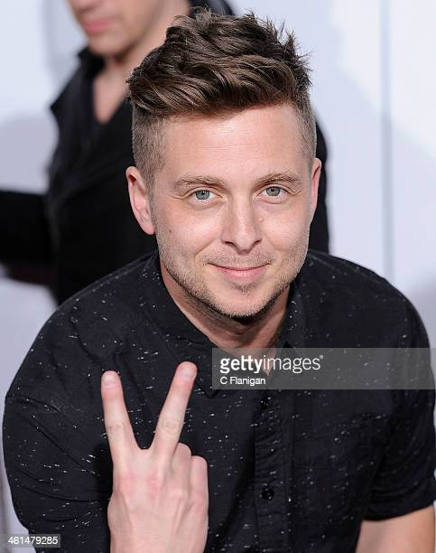 Singer Ryan Tedder of OneRepublic arrives during The 40th Annual People's Choice Awards at Nokia Theatre LA Live on January 8 2014 in Los Angeles...