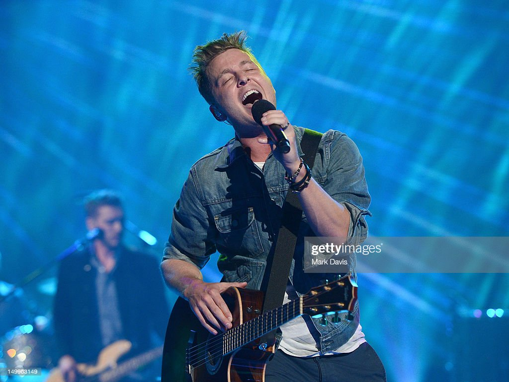 Singer Ryan Tedder of the musical group One Republic performs at the MDA Show of Strength held at CBS Television City on August 7, 2012 in Los Angeles, California. The show airs on Sunday, September 2, 2012 at 8PM