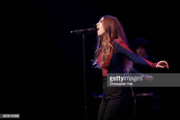 Singer Ryn Weaver performs onstage during the MTV Artists to Watch at House of Blues Sunset Strip on February 5 2015 in West Hollywood California