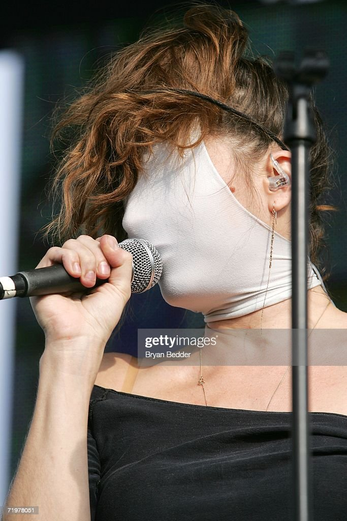 Singer Sabina Sciubba of Brazilian Girls performs onstage at the Virgin Festival by Virgin Mobile at Pimlico Race Course on September 23, 2006 in Baltimore, Maryland.