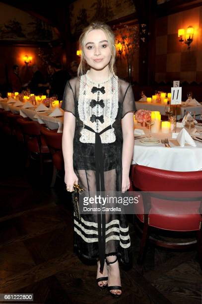 Singer Sabrina Carpenter attends the Coach Rodarte celebration for their Spring 2017 Collaboration at Musso Frank on March 30 2017 in Hollywood...