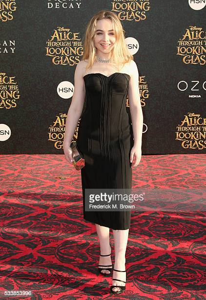 Singer Sabrina Carpenter attends the premiere of Disney's 'Alice Through The Looking Glass at the El Capitan Theatre on May 23 2016 in Hollywood...