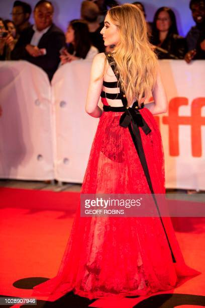 US singer Sabrina Carpenter attends the premiere of The Hate You Give at the Toronto International Film Festival in Toronto Ontario September 7 2018