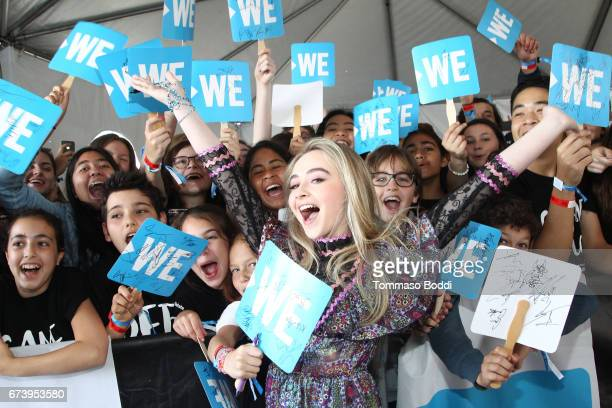 Singer Sabrina Carpenter attends WE Day California to celebrate young people changing the world at The Forum on April 27 2017 in Inglewood California
