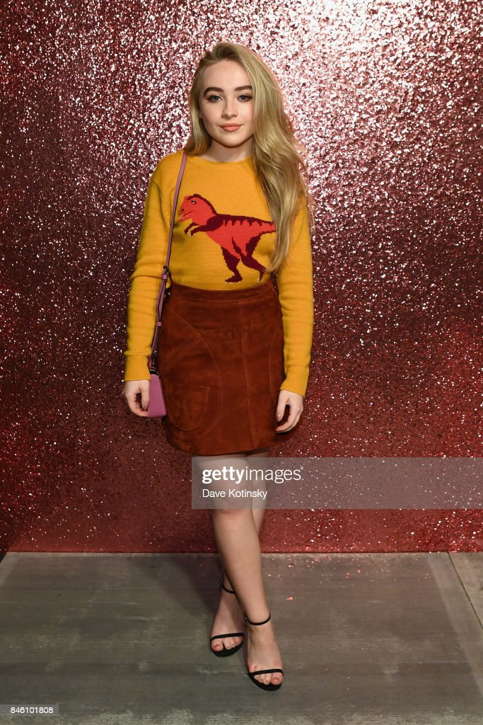 Singer Sabrina Carpenter poses for a portrait during Coach Spring 2018 Fashion Show during New York Fashion Week at Basketball City - Pier 36 - South Street on September 12, 2017 in New York City.