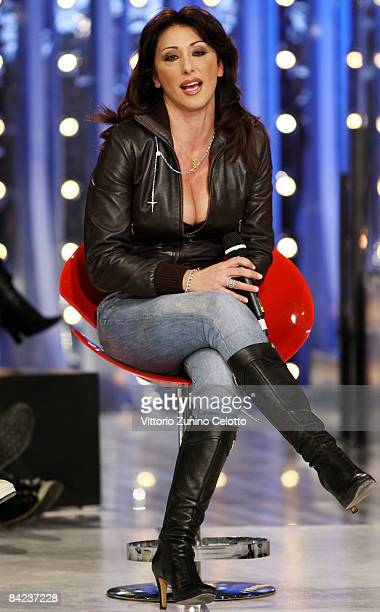 Singer Sabrina Salerno performs at Scalo 76 Television Show held at RAI Studios on January 10 2009 in Milan Italy
