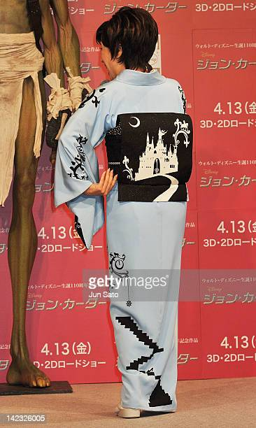 Singer Sachiko Kobayashi attends the 'John Carter' Press Conference at the Ritz Carlton Tokyo on April 2 2012 in Tokyo Japan The film will open on...