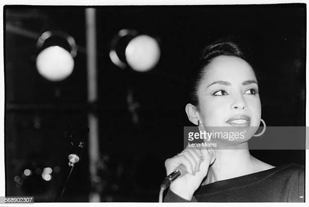 Singer Sade performing on stage circa 1984
