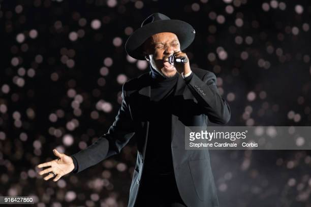 Singer Said MRoumbaba aka Soprano performs during the 33rd Les Victoires De La Musique at La Seine Musicale on February 9 2018 in BoulogneBillancourt...