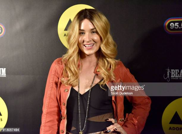 Singer Saint Heart attends Adopt the Arts annual rock gala at Avalon Hollywood on January 31 2018 in Los Angeles California