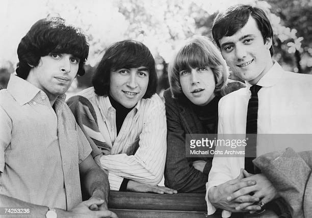 Singer Sal Valentino bassist Ron Meagher drummer John Petersen and guitarist Ron Elliott of the rock and roll band The Beau Brummels pose for a...