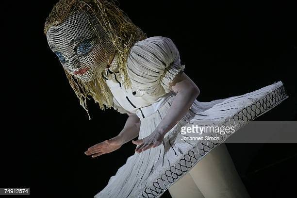 Singer Sally Matthews performs the character 'Alice' during the rehearsal of the opera 'Alice in Wonderland' by the Korean composer Unsuk Chin at the...