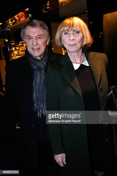 Singer Salvatore Adamo and his wife Nicole attend the 'Paris Merveilles' Lido New Revue Opening Gala on April 8 2015 in Paris France