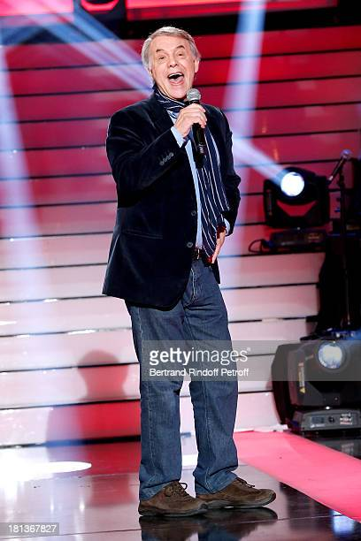 Singer Salvatore Adamo performs at 'Le Grand Show' by Laurent Gerra : Rehearsal at La Plaine Saint Denis on September 20, 2013 in Paris, France.