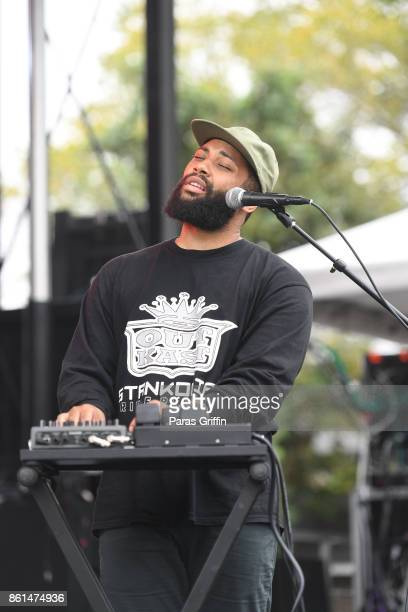 Singer Sam Dew performs onstage at AfroPunk Festival Atlanta at Mechanicsville on October 14 2017 in Atlanta Georgia