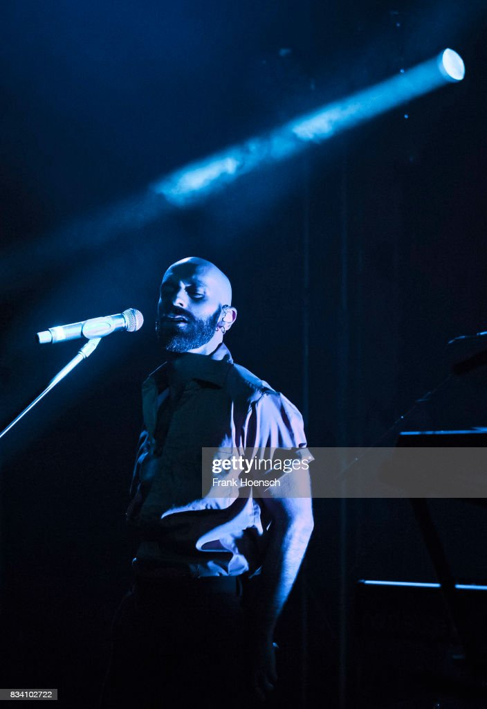 Singer Sam Harris of the American band X Ambassadors performs live on stage during a concert at the Lido on August 17, 2017 in Berlin, Germany.