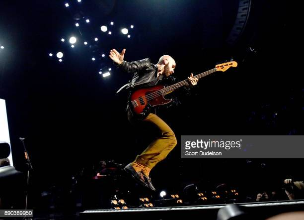 Singer Sam Harris of the band X Ambassadors performs onstage during night two of KROQ Almost Acoustic Christmas 2017 at The Forum on December 9 2017...