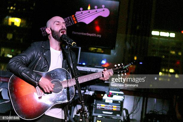 Singer Sam Harris perforrms onstage at The Concert Across America To End Gun Violence at The Standard Hotel on September 25 2016 in Los Angeles...
