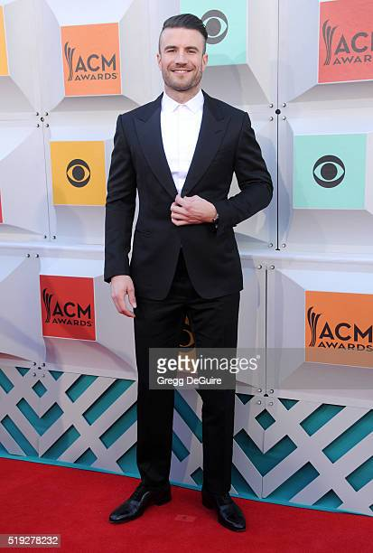 Singer Sam Hunt arrives at the 51st Academy Of Country Music Awards at MGM Grand Garden Arena on April 3 2016 in Las Vegas Nevada