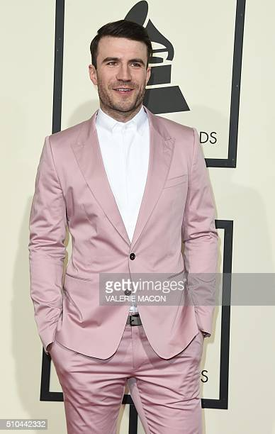 Singer Sam Hunt arrives on the red carpet during the 58th Annual Grammy Music Awards in Los Angeles February 15 2016 AFP PHOTO/ Valerie MACON / AFP /...