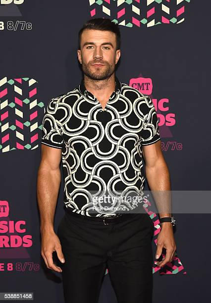 Singer Sam Hunt attends the 2016 CMT Music awards at the Bridgestone Arena on June 8 2016 in Nashville Tennessee
