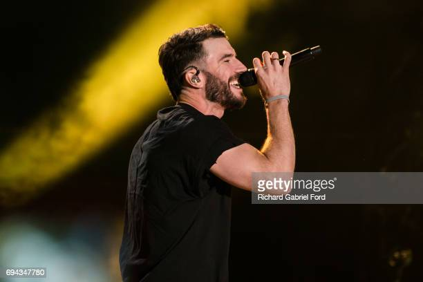 Singer Sam Hunt performs at Nissan Stadium during day 2 of the 2017 CMA Music Festival on June 8 2017 in Nashville Tennessee