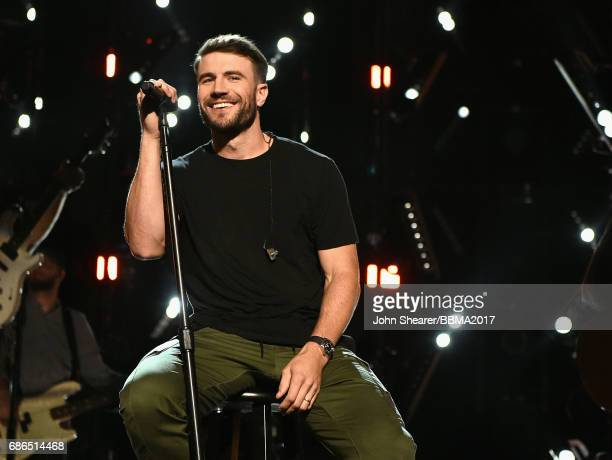 Singer Sam Hunt performs onstage during the 2017 Billboard Music Awards at TMobile Arena on May 21 2017 in Las Vegas Nevada