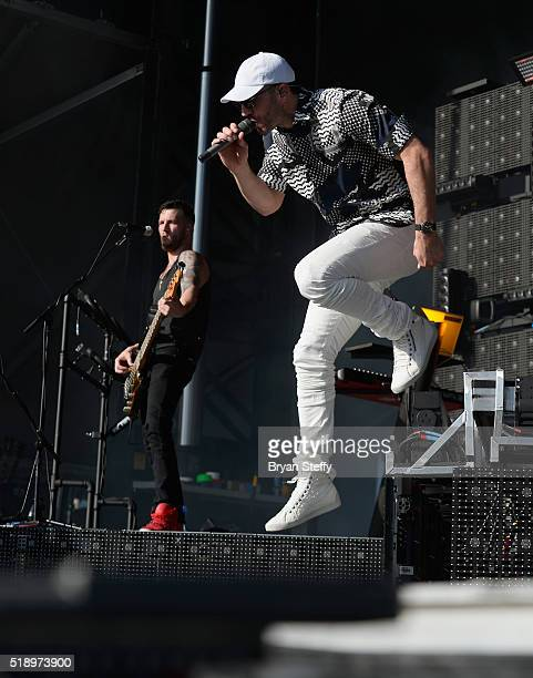 Singer Sam Hunt performs onstage during the 4th ACM Party For A Cause Festival at the Las Vegas Festival Grounds on April 3 2016 in Las Vegas Nevada
