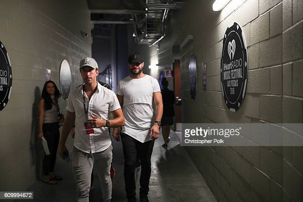 Singer Sam Hunt walks backstage during the 2016 iHeartRadio Music Festival at TMobile Arena on September 23 2016 in Las Vegas Nevada