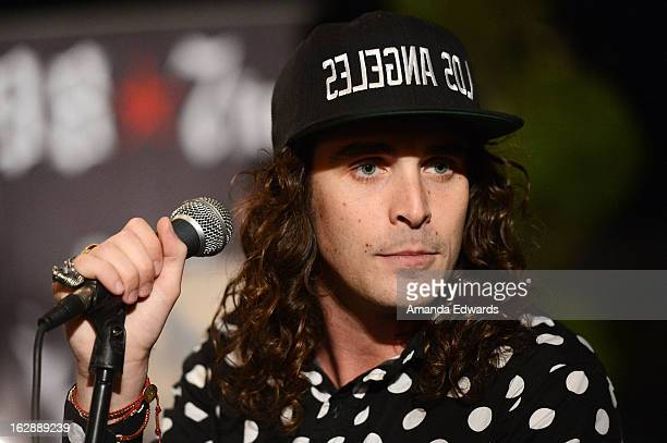 Singer Sam Martin of the band Youngblood Hawke performs onstage at the 987FM Penthouse Party at The Historic Hollywood Tower on February 28 2013 in...