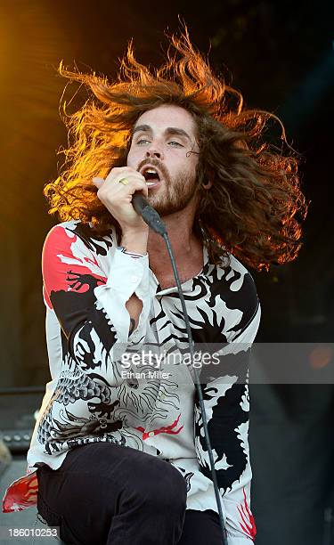 Singer Sam Martin of Youngblood Hawke performs during the Life is Beautiful festival on October 26 2013 in Las Vegas Nevada