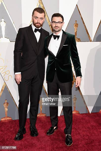 Singer Sam Smith and songwriter Jimmy Napes attend the 88th Annual Academy Awards at Hollywood Highland Center on February 28 2016 in Hollywood...