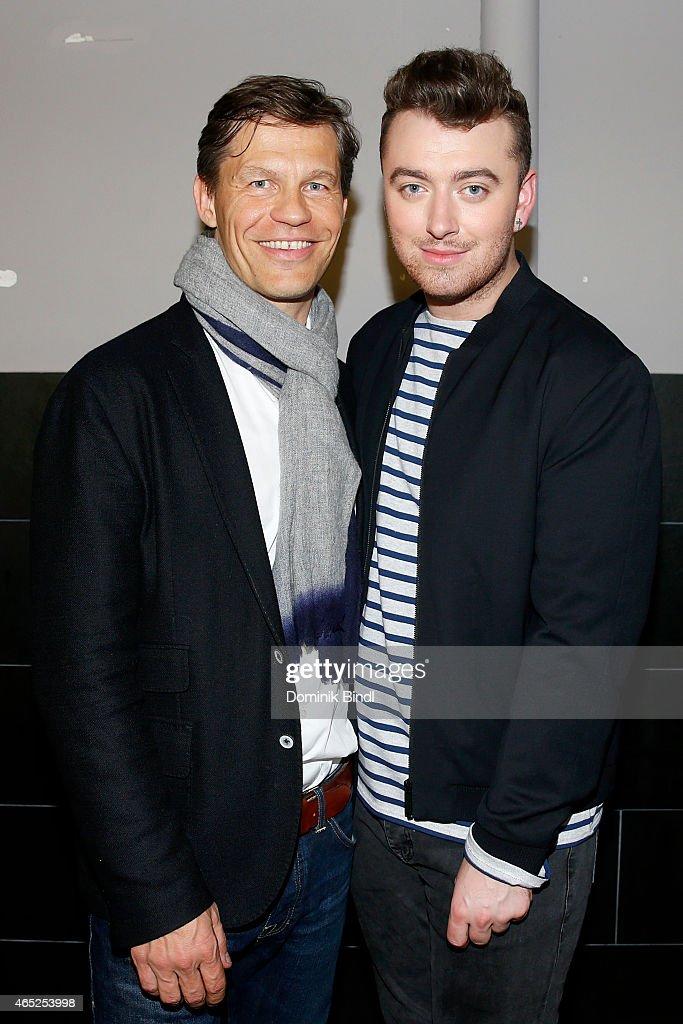Sam Smith Meets Universal Music Deutschland CEO Frank Briegmann : News Photo