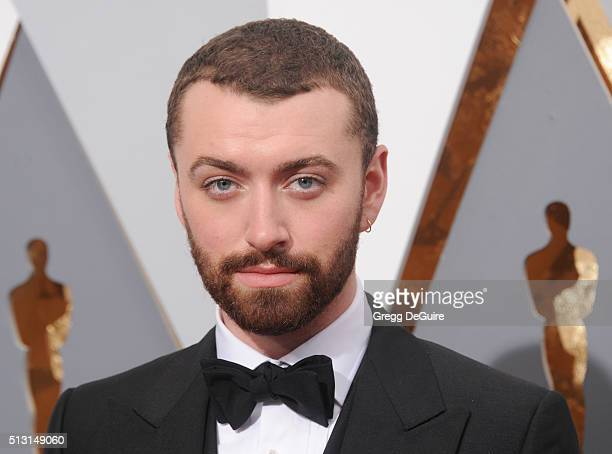 Singer Sam Smith arrives at the 88th Annual Academy Awards at Hollywood Highland Center on February 28 2016 in Hollywood California