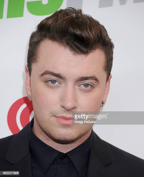 Singer Sam Smith attends KIIS FM's Jingle Ball 2014 powered by LINE at Staples Center on December 5 2014 in Los Angeles California
