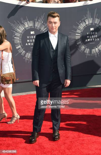Singer Sam Smith attends the 2014 MTV Video Music Awards at The Forum on August 24 2014 in Inglewood California