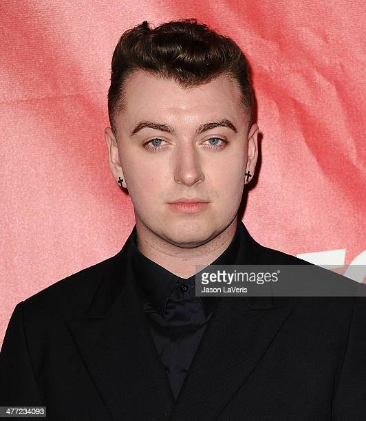 Singer Sam Smith attends the 2014 MusiCares Person of the Year honoring Carole King at Los Angeles Convention Center on January 24 2014 in Los...