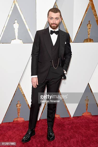 Singer Sam Smith attends the 88th Annual Academy Awards at Hollywood Highland Center on February 28 2016 in Hollywood California