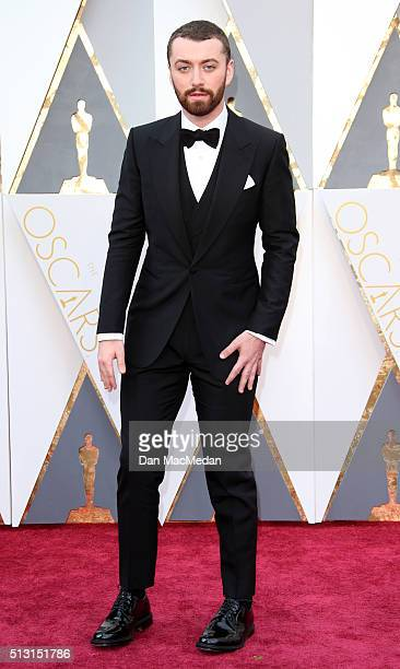 Singer Sam Smith attends the 88th Annual Academy Awards at Hollywood & Highland Center on February 28, 2016 in Hollywood, California.