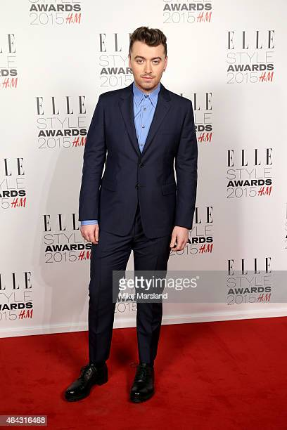 Singer Sam Smith attends the Elle Style Awards 2015 at Sky Garden @ The Walkie Talkie Tower on February 24 2015 in London England