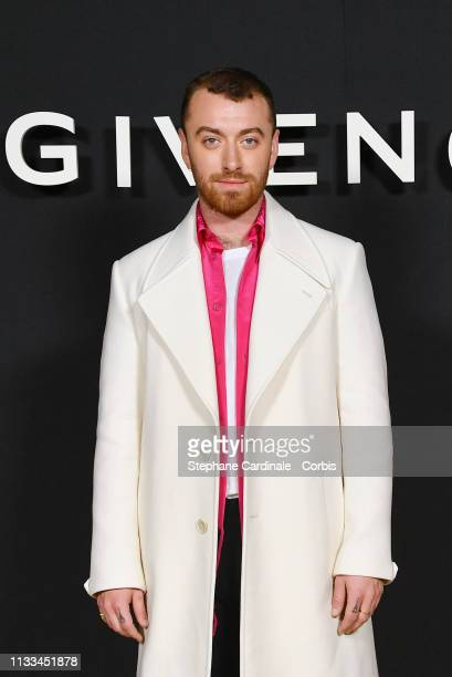 Singer Sam Smith attends the Givenchy show as part of the Paris Fashion Week Womenswear Fall/Winter 2019/2020 on March 03, 2019 in Paris, France.