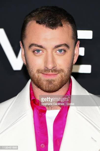 Singer Sam Smith attends the Givenchy show as part of the Paris Fashion Week Womenswear Fall/Winter 2019/2020 on March 03 2019 in Paris France