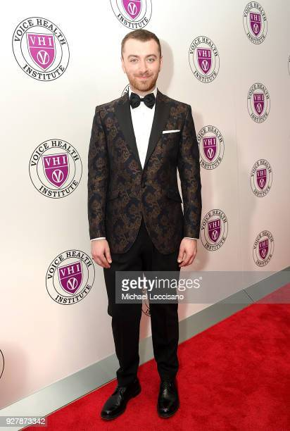 Singer Sam Smith attends the red carpet arrivals for the Raise Your Voice concert honoring Julie Andrews at Alice Tully Hall Lincoln Center on March...