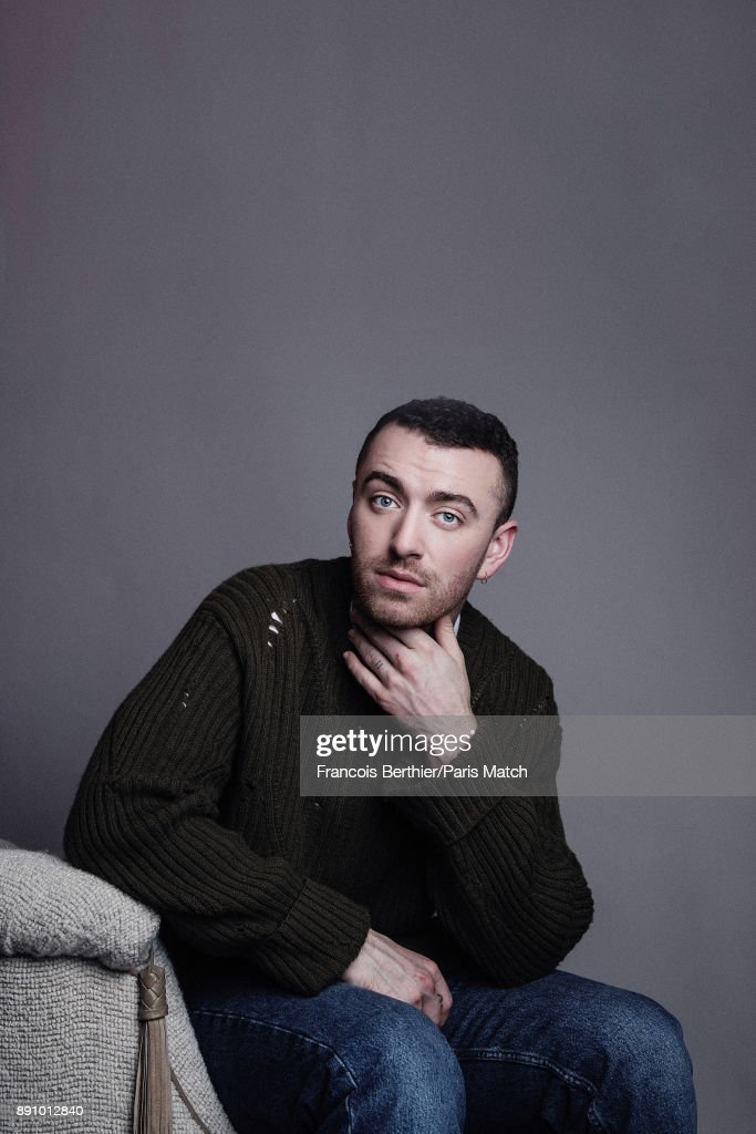 Singer Sam Smith is photographed for Paris Match on November 27, 2017 in Paris, France.