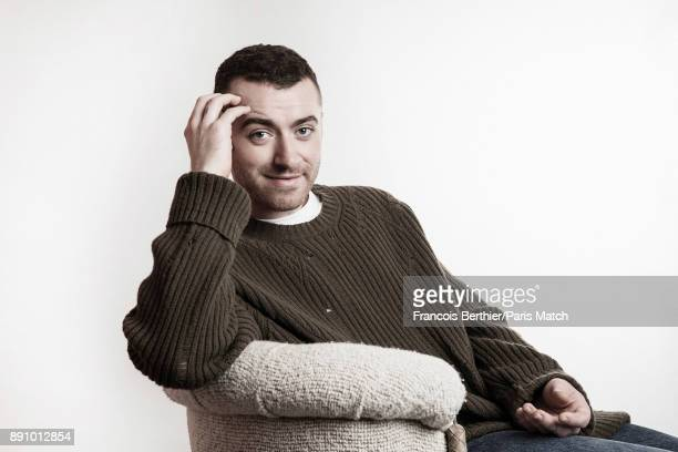 Singer Sam Smith is photographed for Paris Match on November 27 2017 in Paris France
