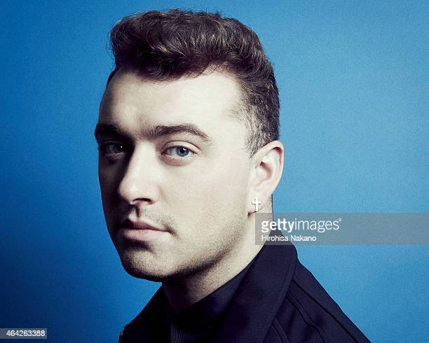 Singer Sam Smith is photographed on February 17 2015 in Tokyo Japan