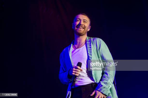 Singer Sam Smith on the third day of the Estereo Picnic Music Festival on April 7 2019 in Bogota Colombia