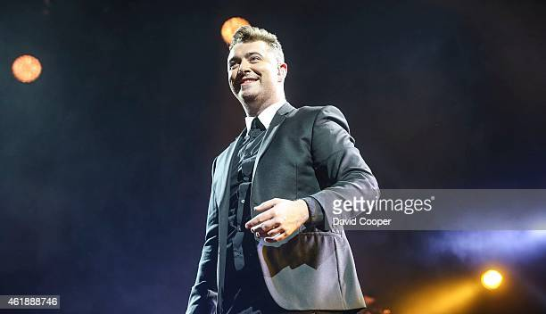 Singer Sam Smith performing live at the Air Canada Centre