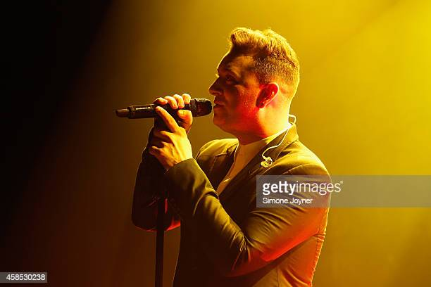 Singer Sam Smith performs live on stage at Hammersmith Apollo on November 6, 2014 in London, England.